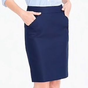 J.Crew - Pencil Skirt in Double Serge Cotton